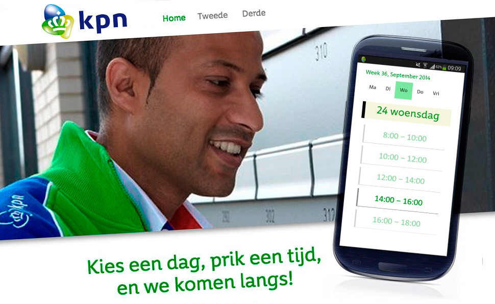 KPN Monteurboeker | Studio VandenBor, Webdesign en WordPress experts
