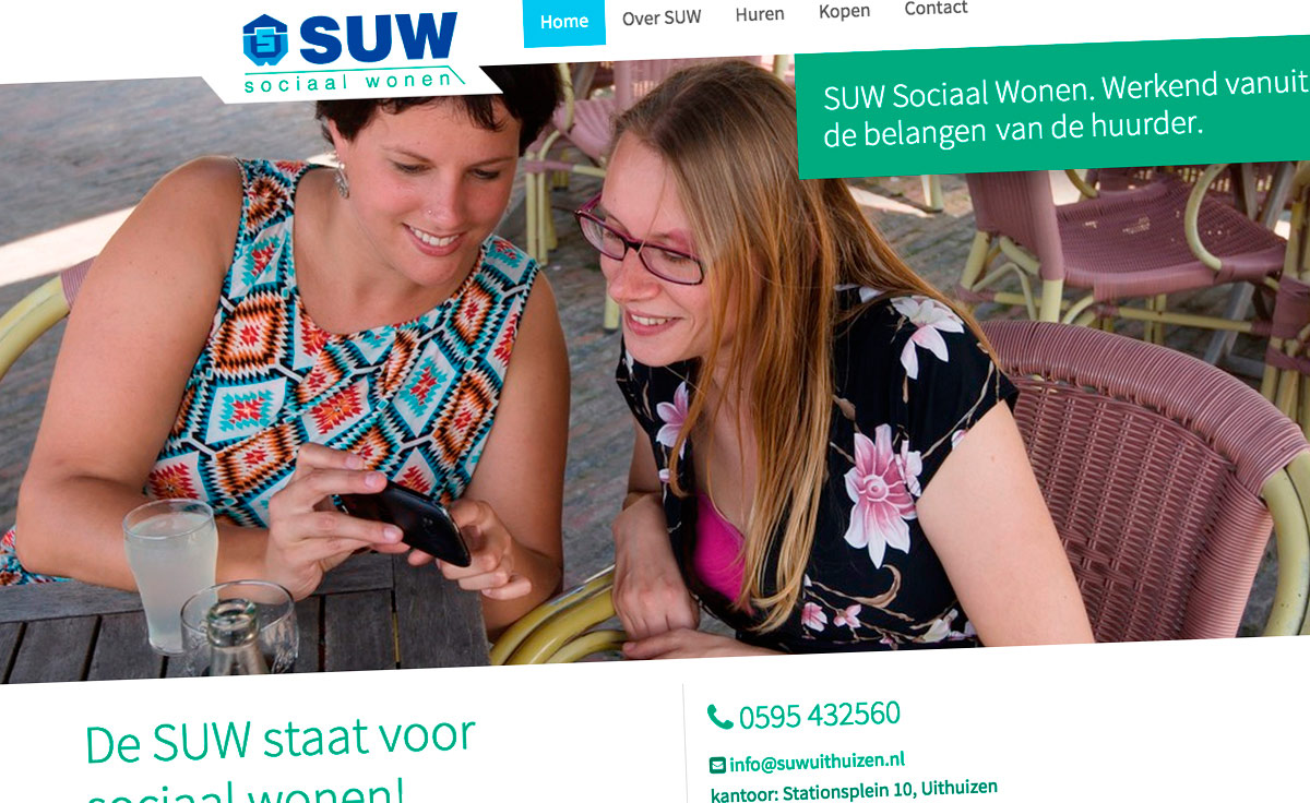 SUW Sociaal Wonen | Studio VandenBor, Webdesign en WordPress experts