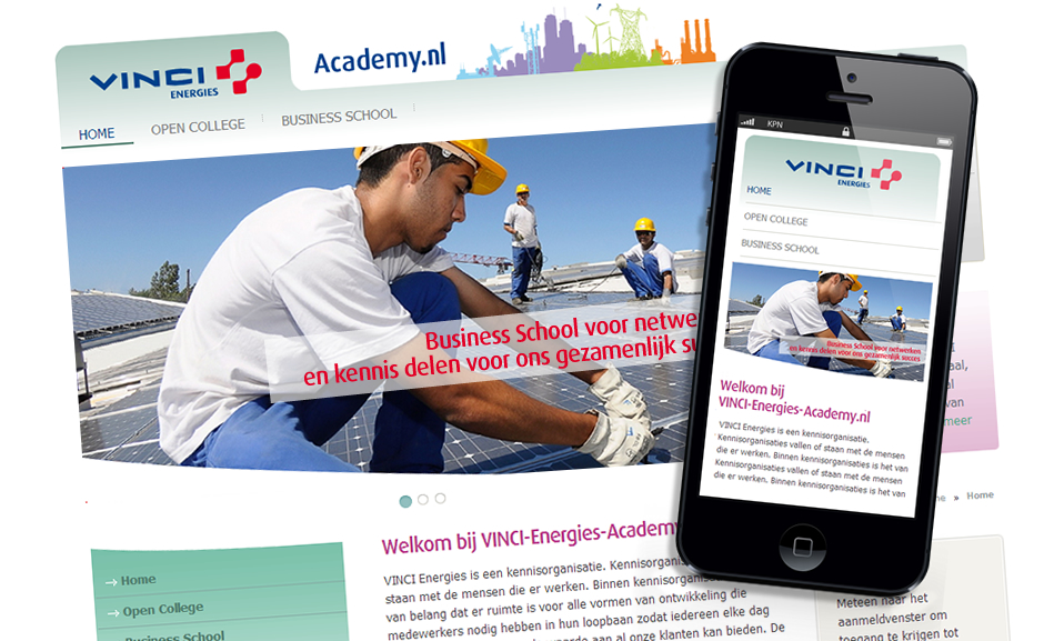 Vinci Energies Academy | Studio VandenBor, Webdesign en WordPress experts