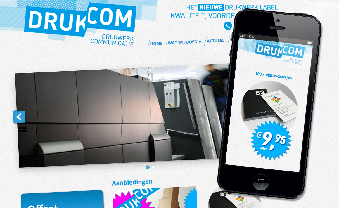 Drukcom | Studio VandenBor, Webdesign en WordPress experts