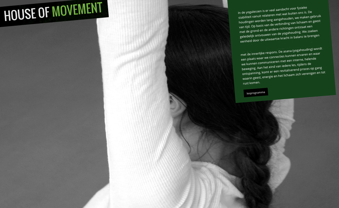 House of movement | Studio VandenBor, Webdesign en WordPress experts