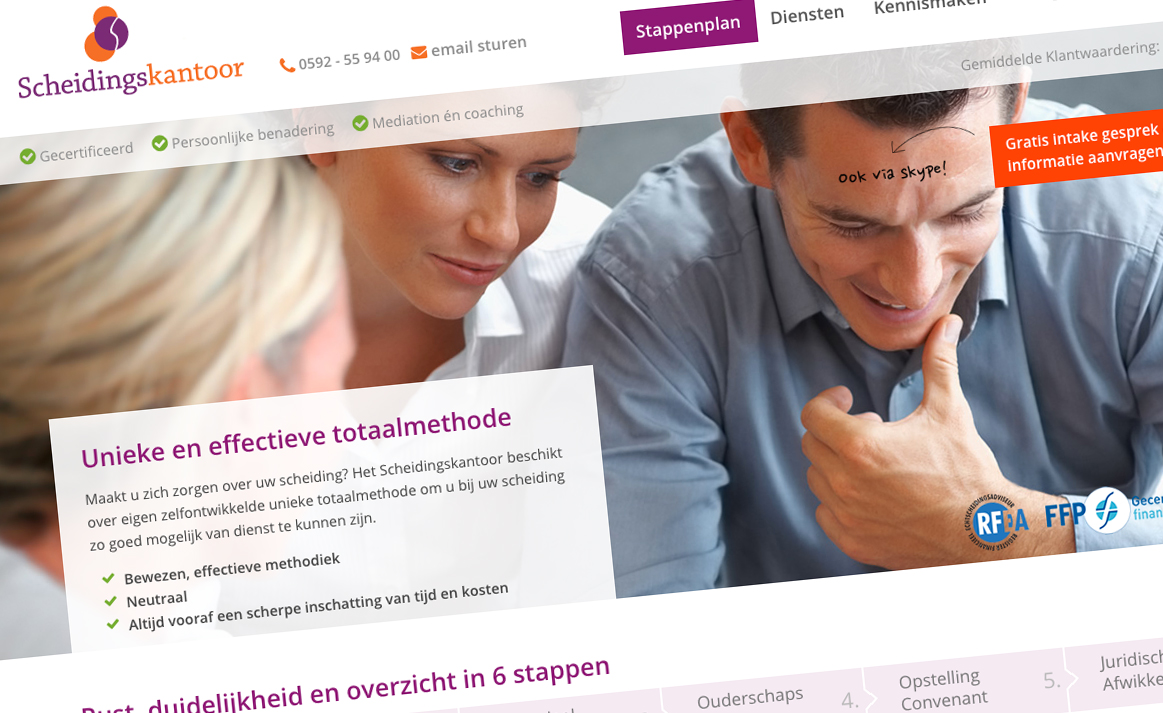 Scheidingskantoor (in opdracht van Studio Wing) | Studio VandenBor, Webdesign en WordPress experts